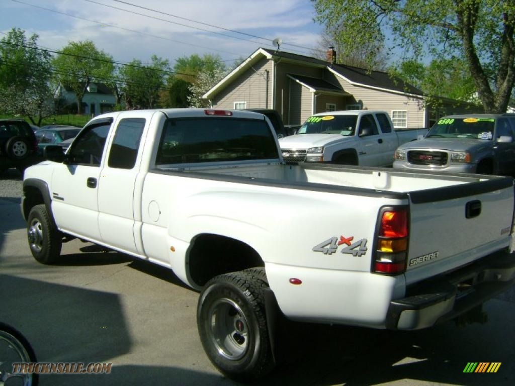 2003 GMC Sierra 3500 SLE Extended Cab 4x4 Dually in Summit ...