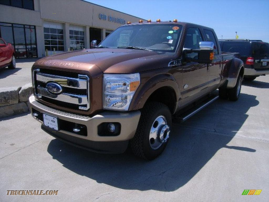 2011 F350 Super Duty King Ranch Crew Cab 4x4 Dually - Golden Bronze