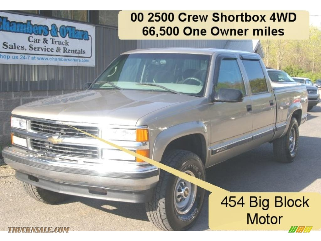 2000 chevrolet silverado 2500 ls crew cab 4x4 in light pewter metallic 445618 truck n 39 sale