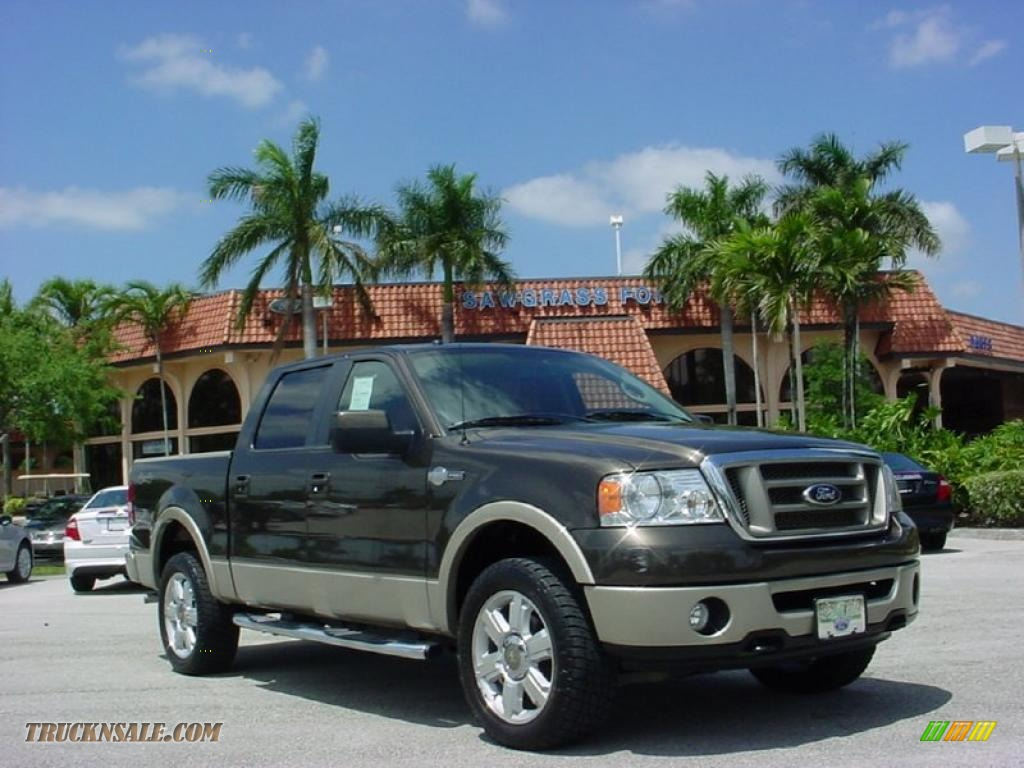 2008 ford f150 king ranch supercrew 4x4 in stone green metallic photo 6 b96306 truck n 39 sale. Black Bedroom Furniture Sets. Home Design Ideas