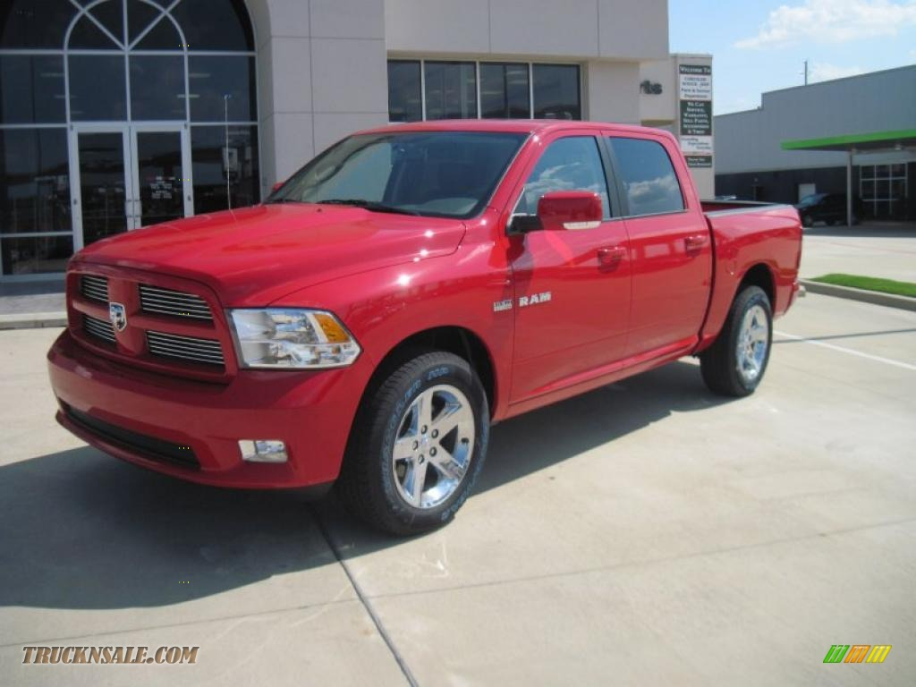 2010 Dodge Ram 1500 Sport Crew Cab In Flame Red 182029