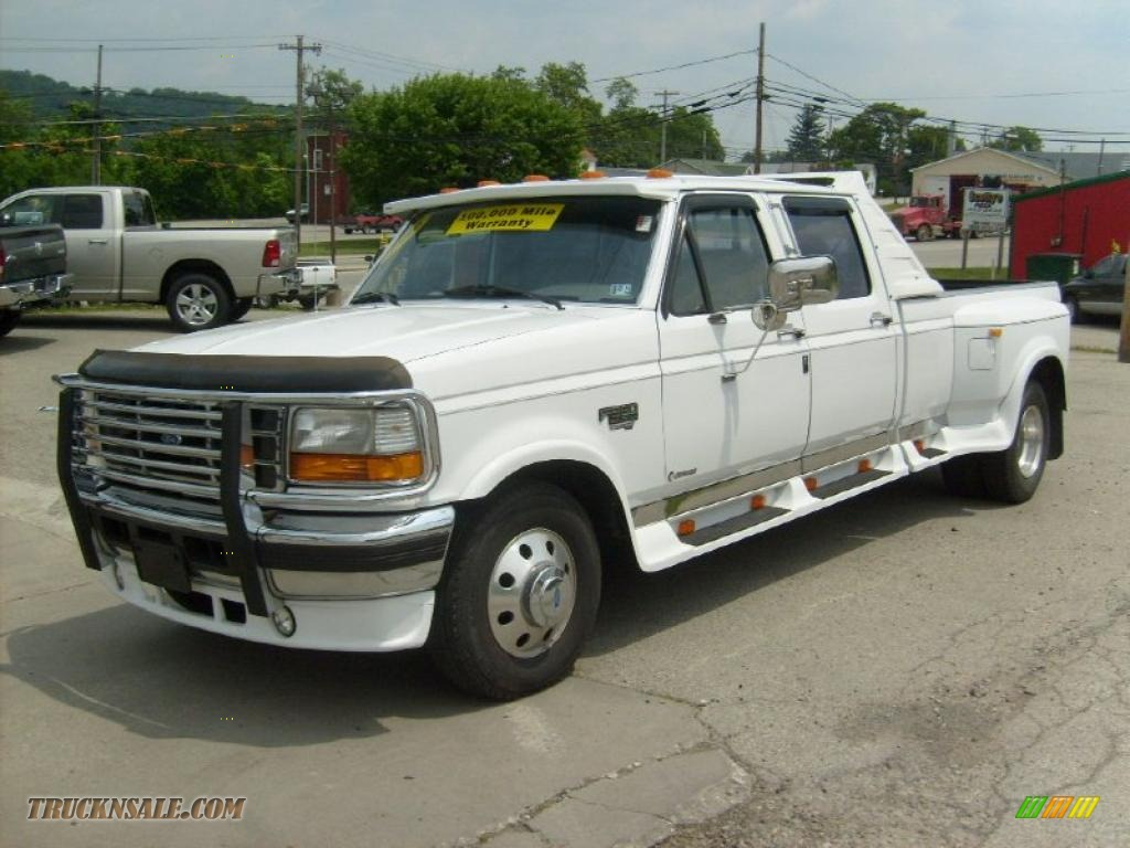 1996 ford f350 xlt crew cab dually in oxford white a22292 truck n 39 sale. Black Bedroom Furniture Sets. Home Design Ideas