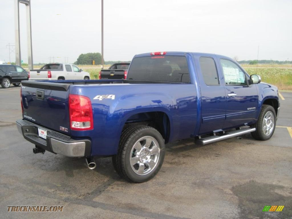 2010 gmc sierra 1500 sle extended cab 4x4 in laser blue metallic photo  4