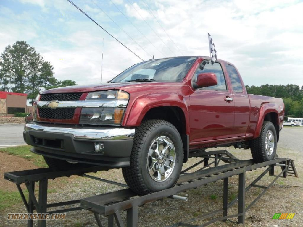 2010 chevrolet colorado lt extended cab 4x4 in cardinal red