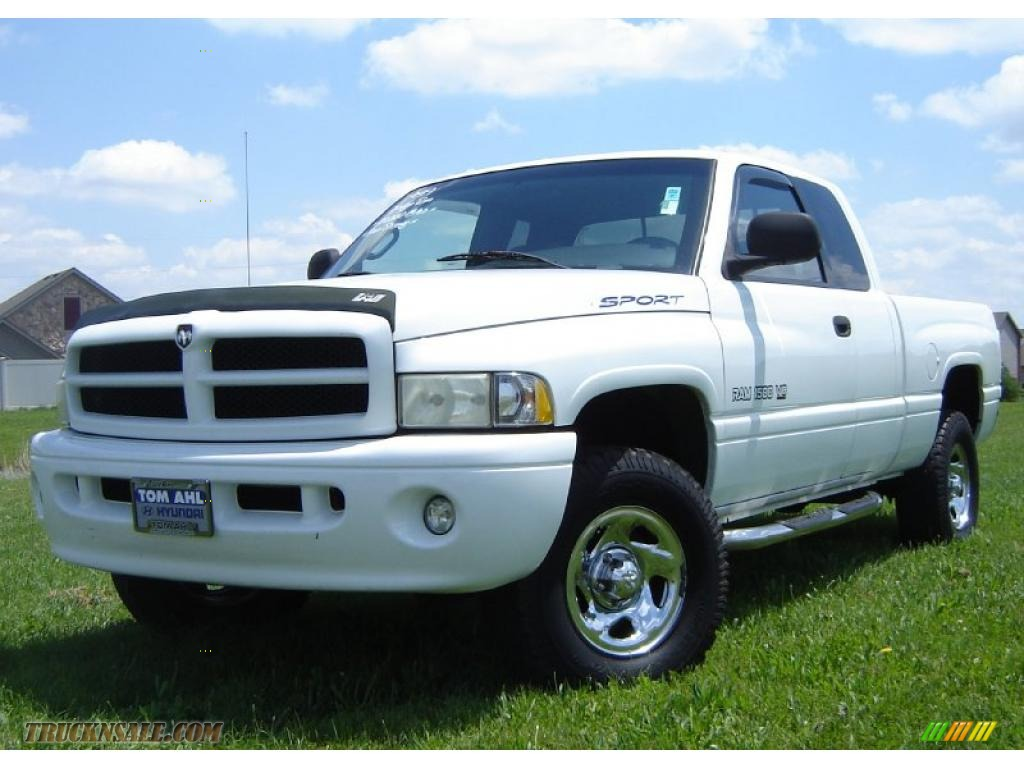 1999 dodge ram 1500 sport extended cab 4x4 in bright white photo 16 242310 truck n 39 sale. Black Bedroom Furniture Sets. Home Design Ideas
