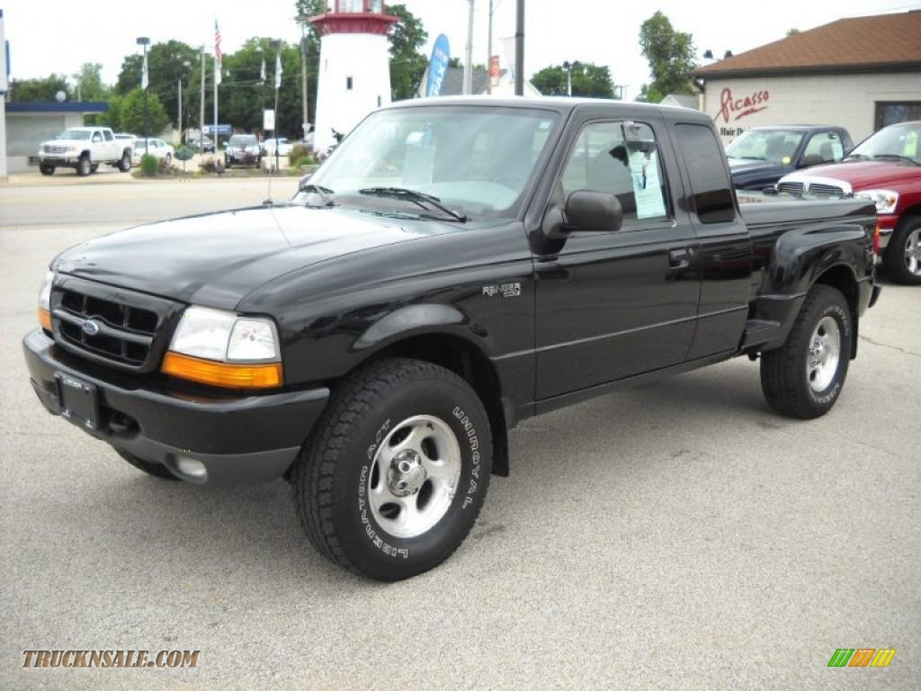 1999 ford ranger xlt extended cab 4x4 in black clearcoat photo 3 a72438 truck n 39 sale. Black Bedroom Furniture Sets. Home Design Ideas