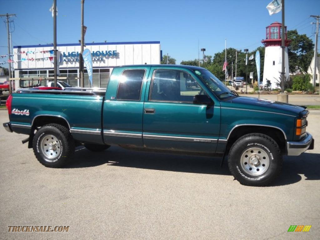 1996 GMC Sierra 1500 SLT Extended Cab 4x4 in Emerald Green ...