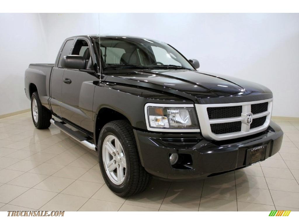 Ron Lewis Dodge >> 2008 Dodge Dakota SXT Extended Cab 4x4 in Brilliant Black - 584596 | Truck N' Sale