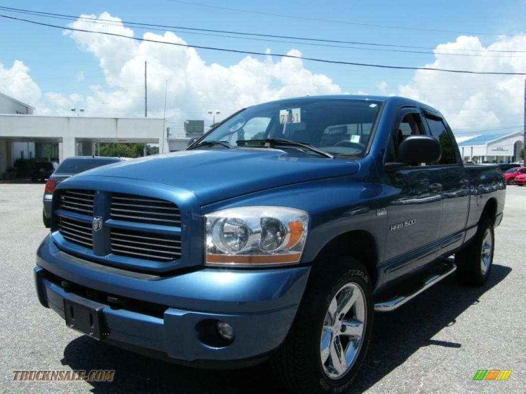 2006 dodge ram 1500 sport quad cab 4x4 in atlantic blue pearl 556023 truck n 39 sale. Black Bedroom Furniture Sets. Home Design Ideas