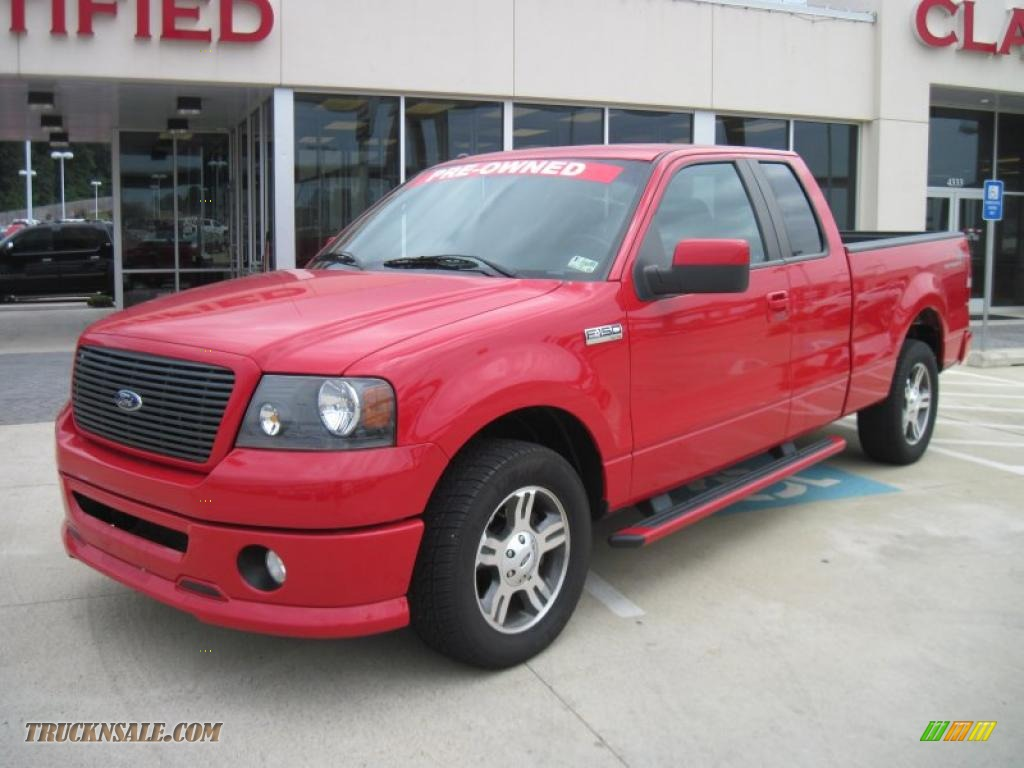 2008 ford f150 fx2 sport supercab in bright red d46111 truck n 39 sale. Black Bedroom Furniture Sets. Home Design Ideas