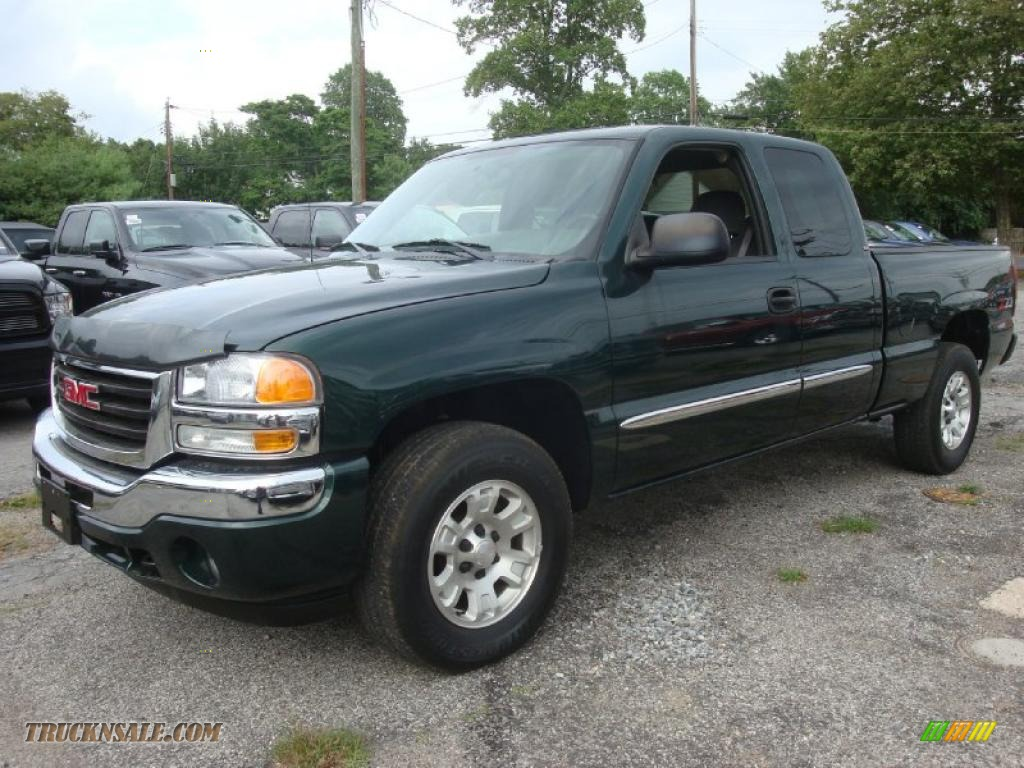 2005 Gmc Sierra 1500 Z71 Extended Cab 4x4 In Polo Green