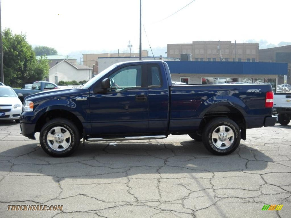 2007 ford f150 stx regular cab 4x4 in dark blue pearl metallic photo 5 a54279 truck n 39 sale. Black Bedroom Furniture Sets. Home Design Ideas