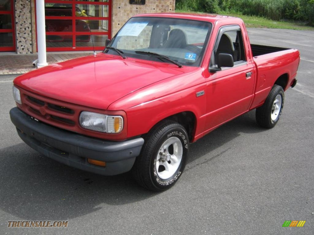1997 Mazda B Series Truck B2300 Regular Cab In Bright Red