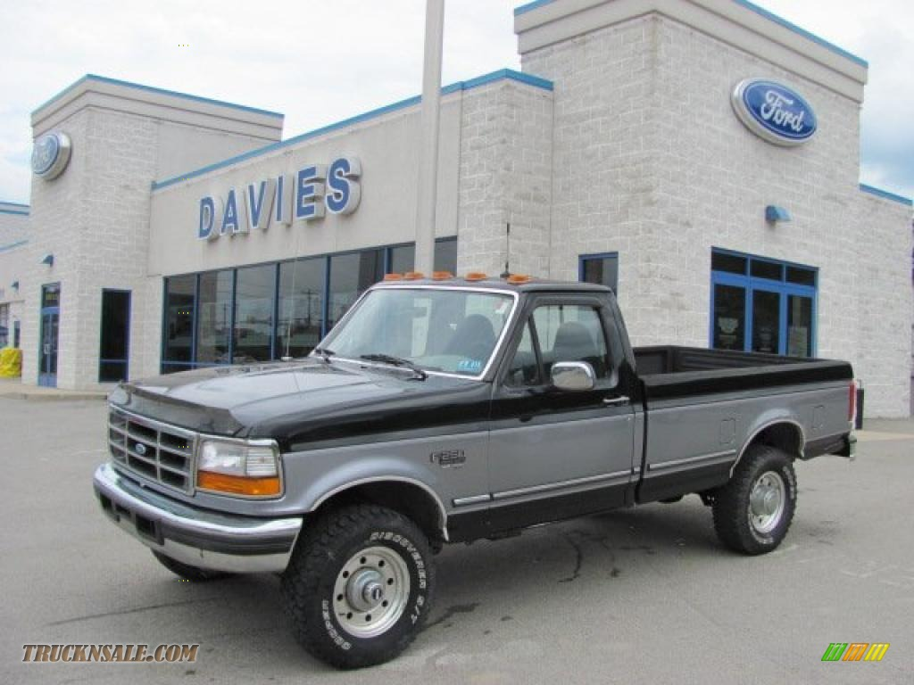 1997 ford f250 xlt regular cab 4x4 in black b10440 truck n 39 sale. Black Bedroom Furniture Sets. Home Design Ideas