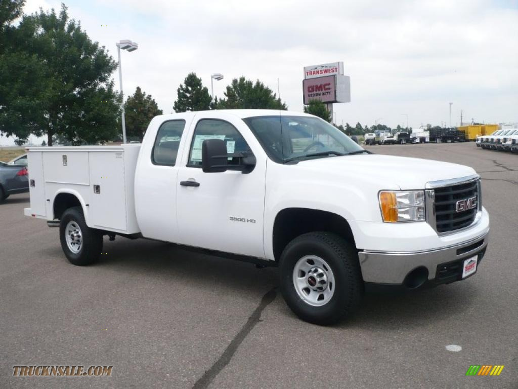 2010 gmc sierra 3500hd work truck extended cab 4x4 chassis utility in summit white 236038. Black Bedroom Furniture Sets. Home Design Ideas