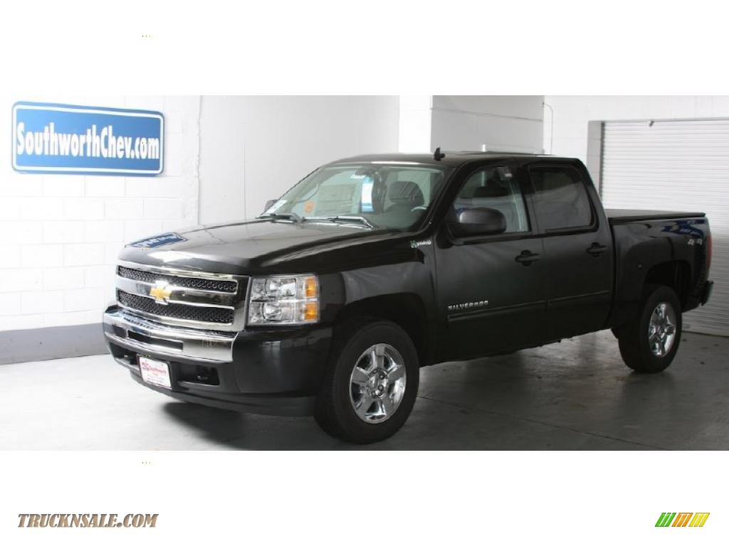 2010 chevrolet silverado 1500 hybrid crew cab 4x4 in black granite metallic 281572 truck n 39 sale. Black Bedroom Furniture Sets. Home Design Ideas