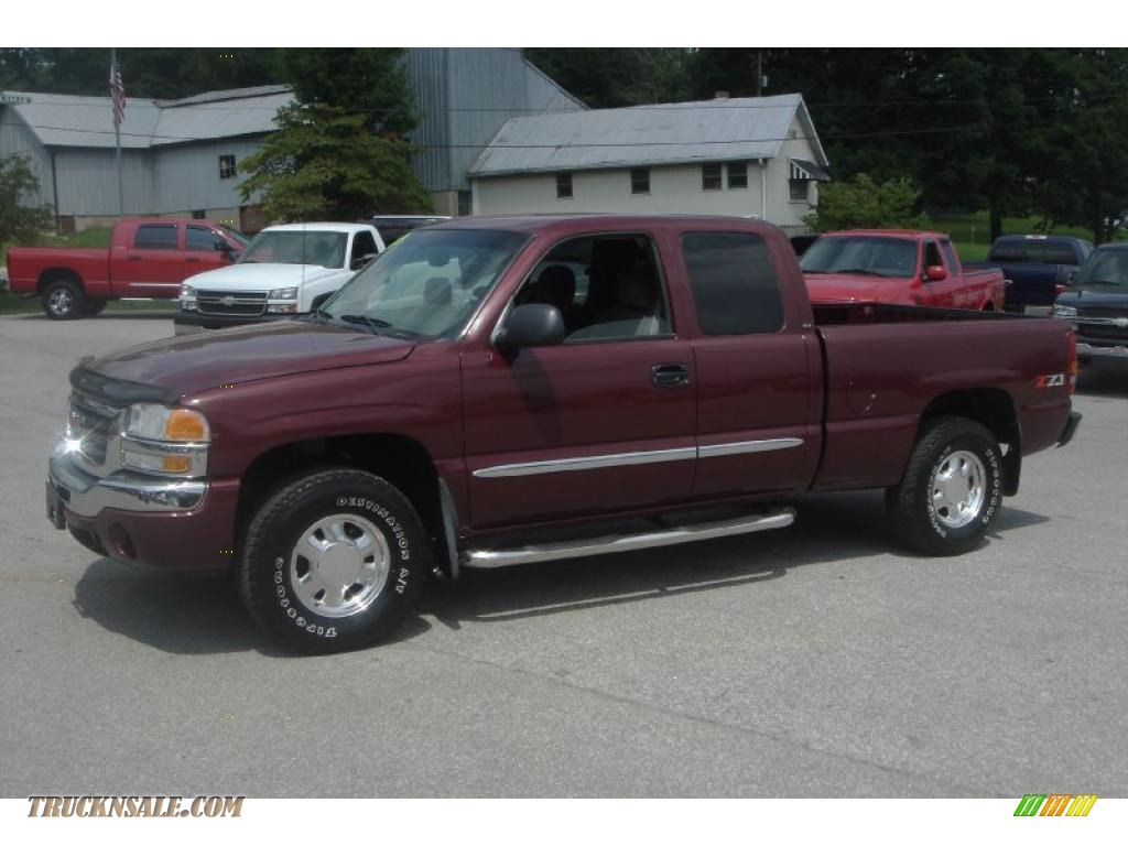 2003 gmc sierra 1500 sle extended cab 4x4 in dark toreador red metallic photo 16 278829. Black Bedroom Furniture Sets. Home Design Ideas