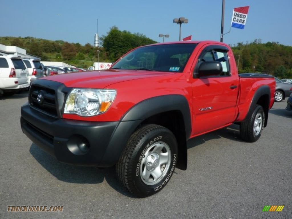 2006 Toyota Tacoma Regular Cab 4x4 In Radiant Red 228560 Truck N Sale