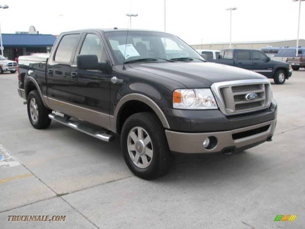 2006 Ford F150 King Ranch Supercrew 4x4 In Dark Stone Metallic Photo F 150 Castano Brown Leather