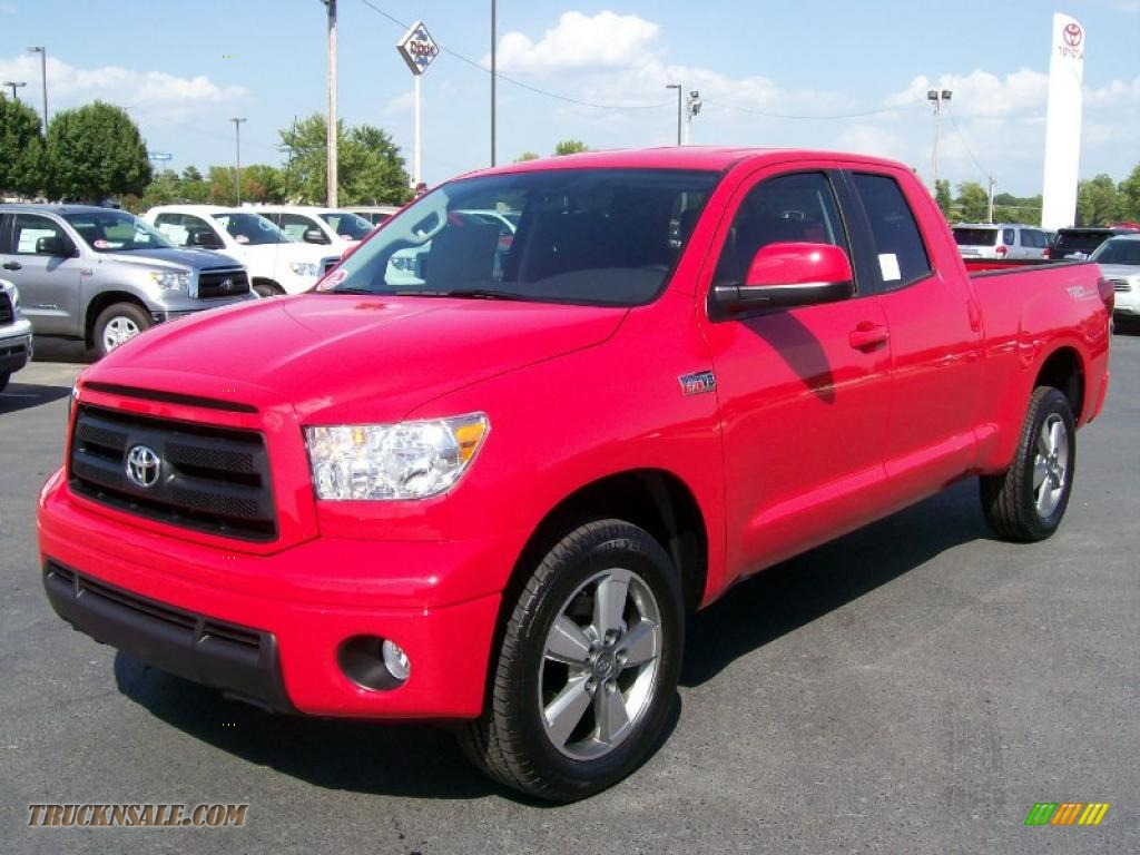 2010 toyota tundra trd sport double cab in radiant red photo 2 098030 truck n 39 sale. Black Bedroom Furniture Sets. Home Design Ideas