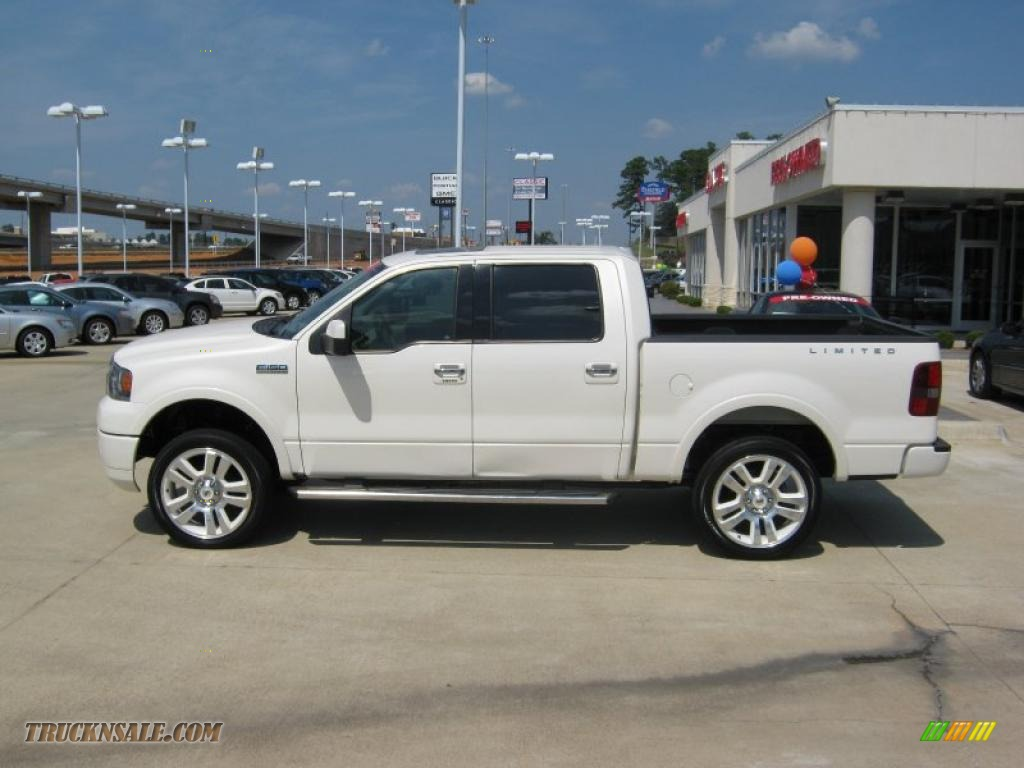 2008 F150 Limited SuperCrew 4x4 - White Sand Tri-Coat / Tan photo #2