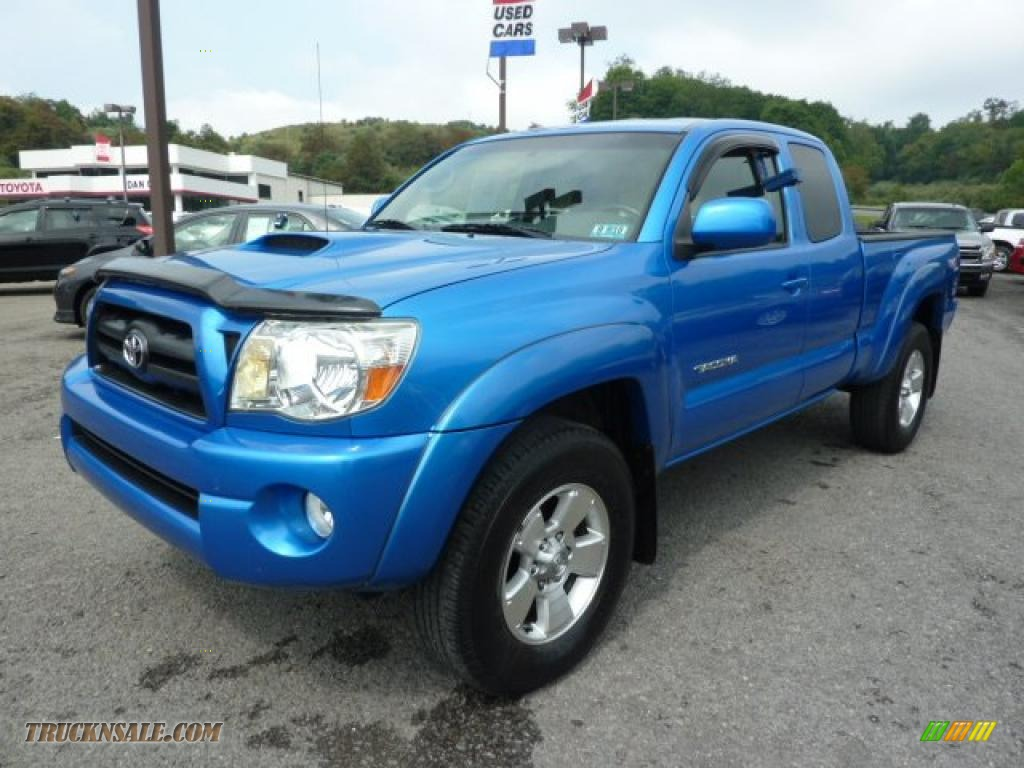 2005 toyota tacoma v6 trd sport access cab 4x4 in speedway blue 109011 truck n 39 sale. Black Bedroom Furniture Sets. Home Design Ideas