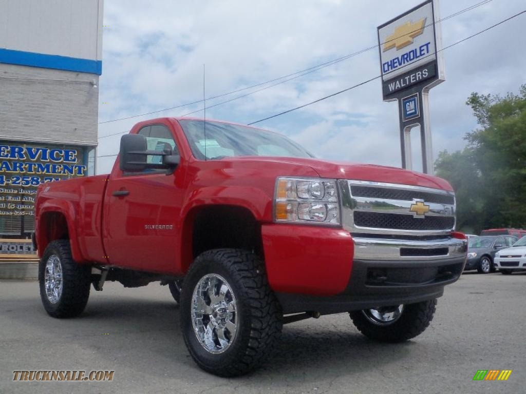 2010 chevrolet silverado 1500 ls regular cab 4x4 in victory red photo 3 295196 truck n 39 sale