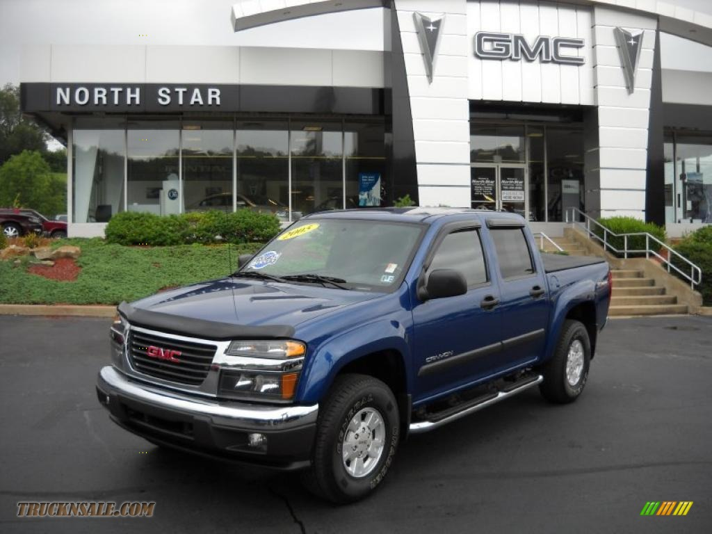 2005 gmc canyon sle crew cab 4x4 in superior blue metallic photo 2 225441 truck n 39 sale. Black Bedroom Furniture Sets. Home Design Ideas