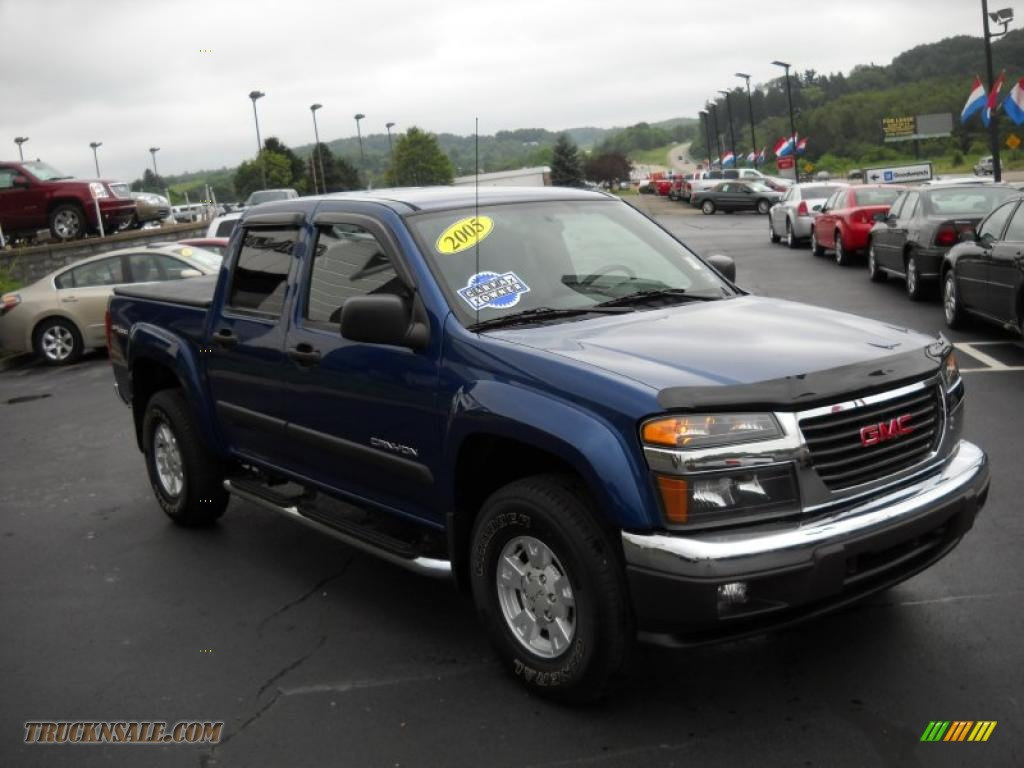 2005 gmc canyon sle crew cab 4x4 in superior blue metallic photo 3 225441 truck n 39 sale. Black Bedroom Furniture Sets. Home Design Ideas