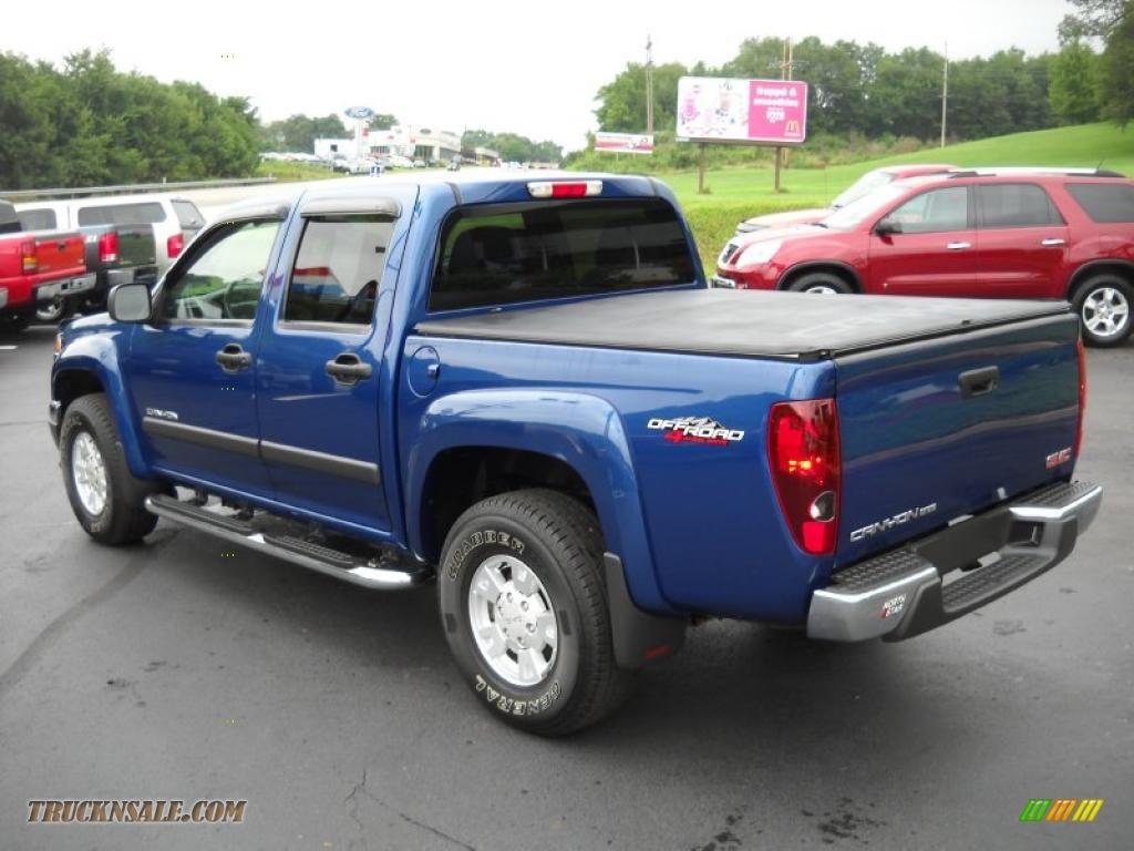 2005 gmc canyon sle crew cab 4x4 in superior blue metallic photo 7 225441 truck n 39 sale. Black Bedroom Furniture Sets. Home Design Ideas