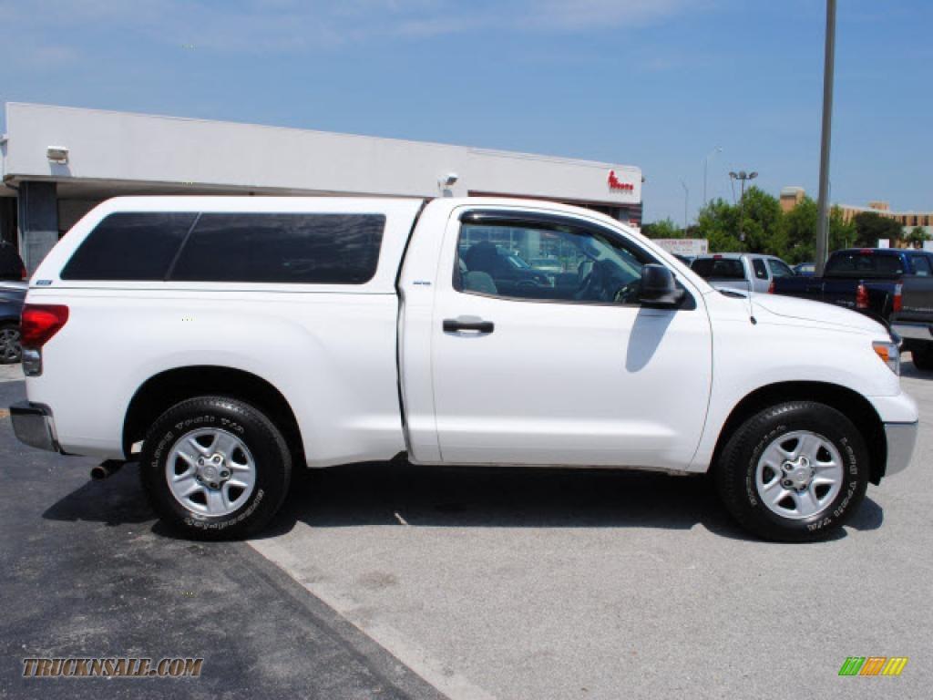 2007 toyota tundra regular cab in super white photo 4 001443 truck n 39 sale