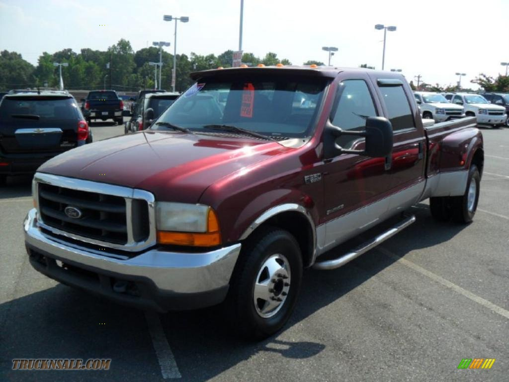 1999 ford f350 super duty xlt crew cab dually in dark toreador red metallic e11568 truck n 39 sale. Black Bedroom Furniture Sets. Home Design Ideas