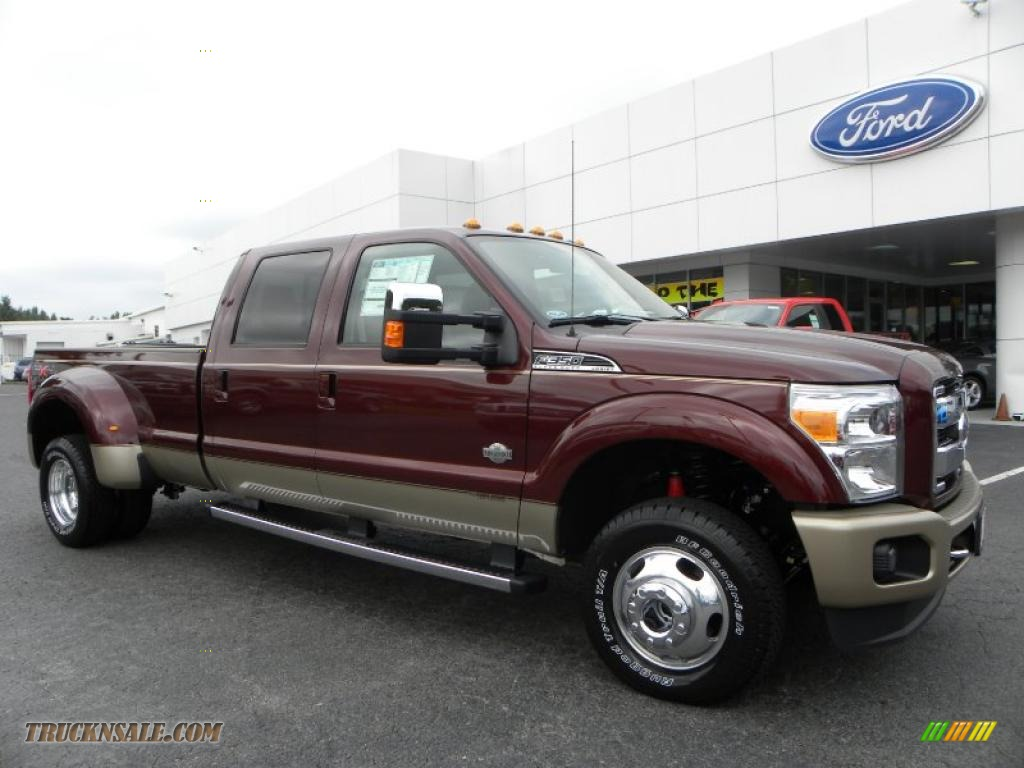 2011 ford f350 super duty king ranch crew cab 4x4 dually in royal red metallic a83234 truck. Black Bedroom Furniture Sets. Home Design Ideas