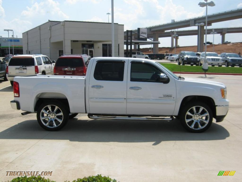 2009 gmc sierra 1500 sle texas edition crew cab in summit white photo 6 194512 truck n 39 sale. Black Bedroom Furniture Sets. Home Design Ideas