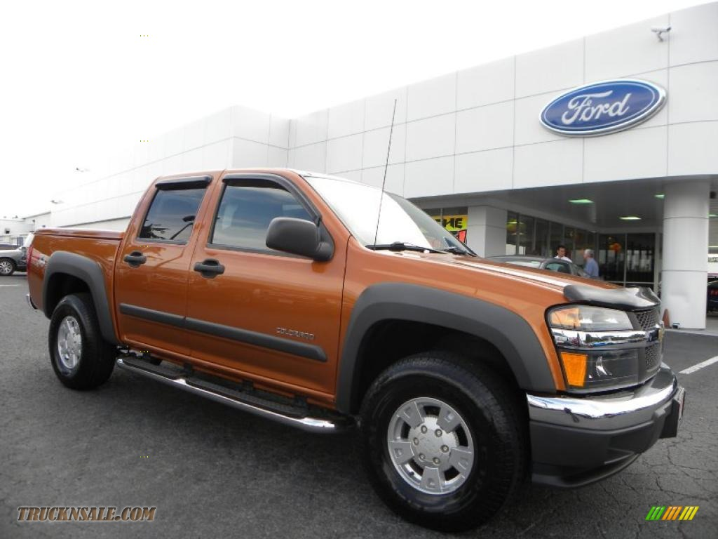 2005 chevrolet colorado z71 crew cab 4x4 in sunburst orange