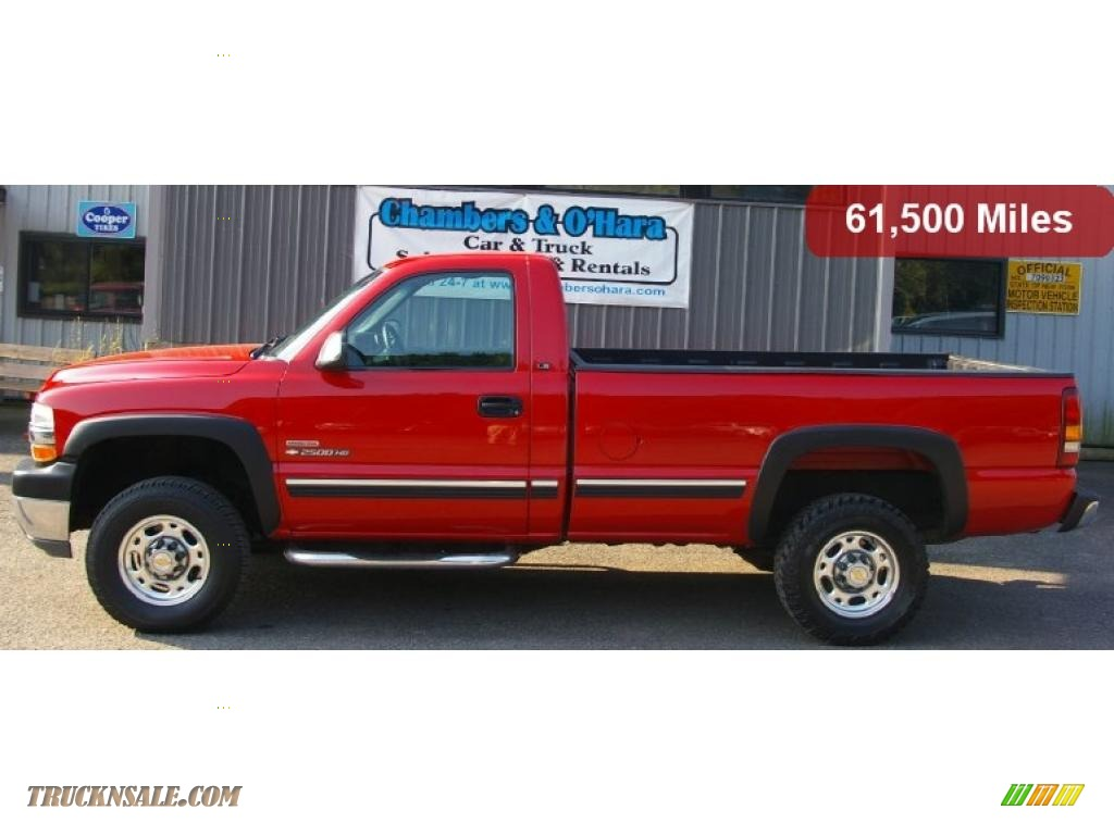 2001 Chevrolet Silverado 2500HD LS Regular Cab 4x4 in Victory Red ...