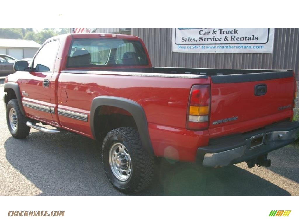 2001 chevrolet silverado 2500hd ls regular cab 4x4 in victory red photo 8 233561 truck n 39 sale. Black Bedroom Furniture Sets. Home Design Ideas