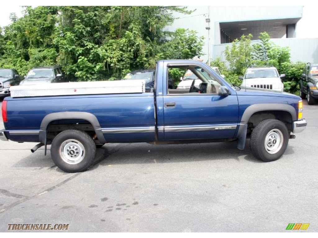 1998 c k 2500 k2500 regular cab 4x4 indigo blue metallic beige photo