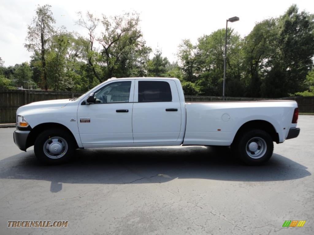 2011 dodge ram 3500 hd st crew cab dually in bright white 510915 truck n 39 sale. Black Bedroom Furniture Sets. Home Design Ideas
