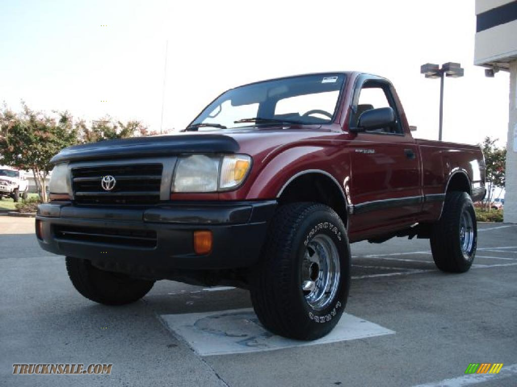 1998 Toyota Tacoma Regular Cab 4x4 In Sunfire Red Pearl
