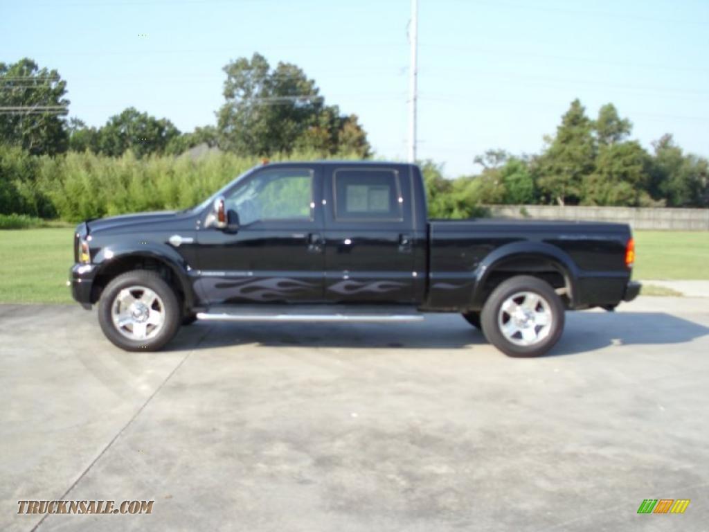 Black black leather ford f250 super duty harley davidson crew cab 4x4