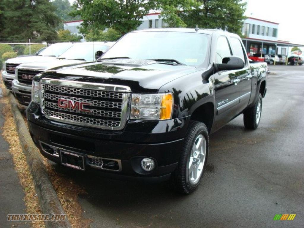 2011 gmc sierra 2500hd denali crew cab 4x4 in onyx black 121753 truck n 39 sale. Black Bedroom Furniture Sets. Home Design Ideas