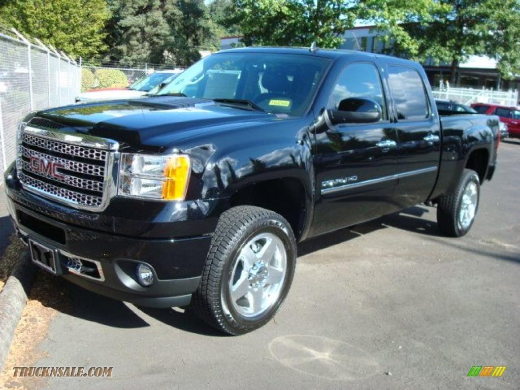 2011 gmc sierra 2500hd denali crew cab 4x4 in onyx black photo 3 121753 truck n 39 sale. Black Bedroom Furniture Sets. Home Design Ideas