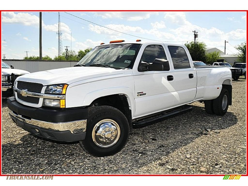 Summit white tan chevrolet silverado 3500 ls crew cab dually