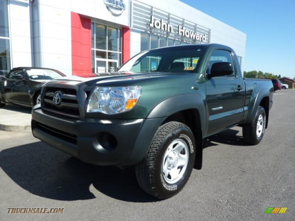 2009 toyota tacoma regular cab 4x4 in timberland green mica 605313 truck n 39 sale. Black Bedroom Furniture Sets. Home Design Ideas