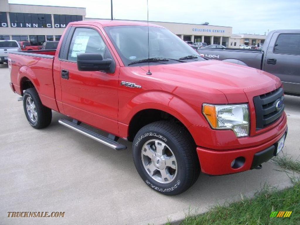 2010 ford f150 stx regular cab 4x4 in vermillion red e15259 truck n 39 sale. Black Bedroom Furniture Sets. Home Design Ideas