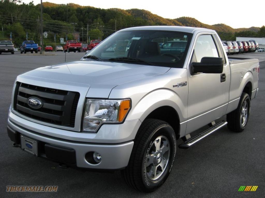 2010 ford f150 stx regular cab 4x4 in ingot silver metallic photo 2 d24244 truck n 39 sale. Black Bedroom Furniture Sets. Home Design Ideas
