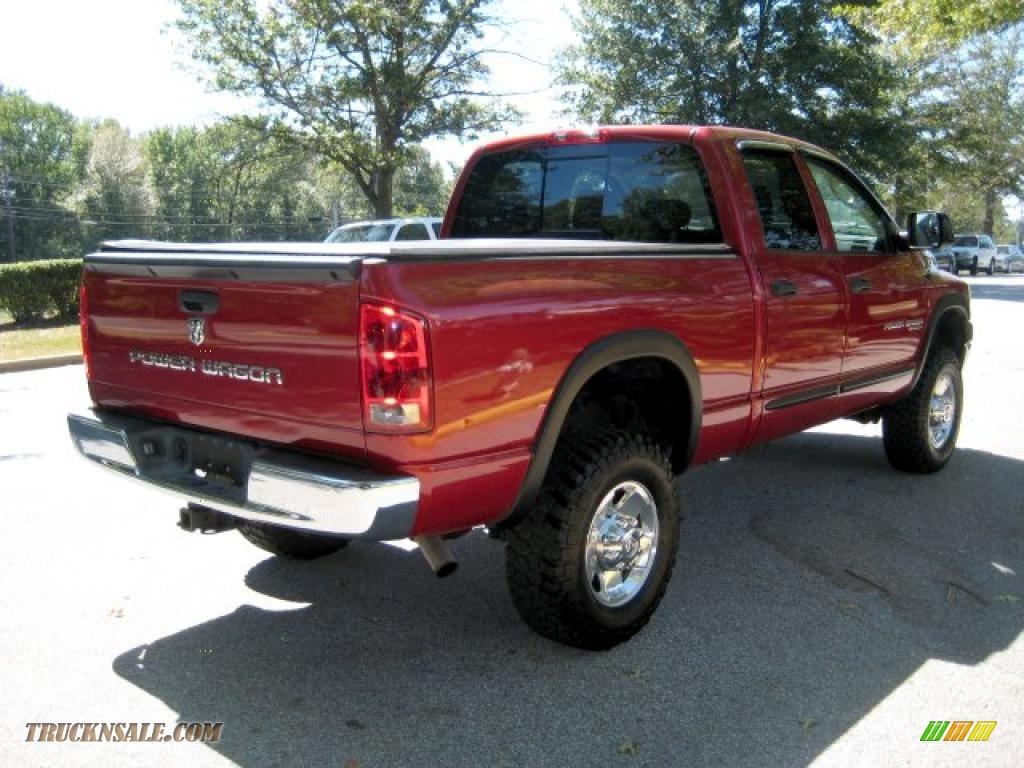 2006 Dodge Ram 2500 Power Wagon Quad Cab 4x4 In Inferno Red Crystal 1500 Pearl Medium Slate