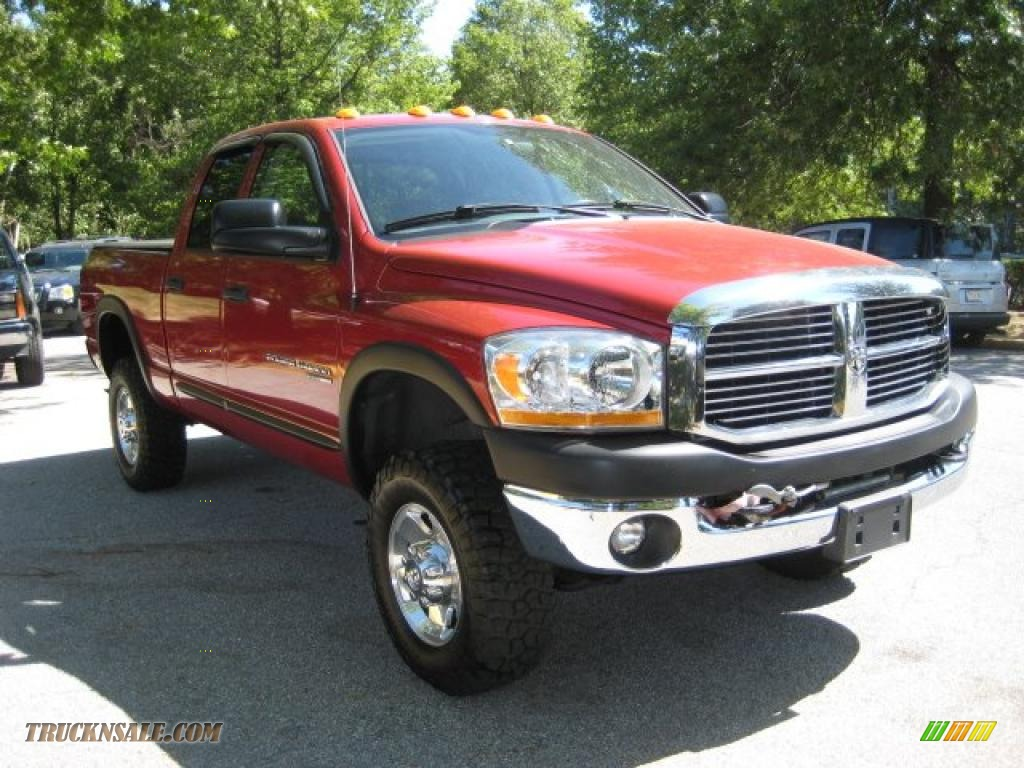 2006 dodge ram 2500 power wagon quad cab 4x4 in inferno red crystal pearl photo 6 248442. Black Bedroom Furniture Sets. Home Design Ideas