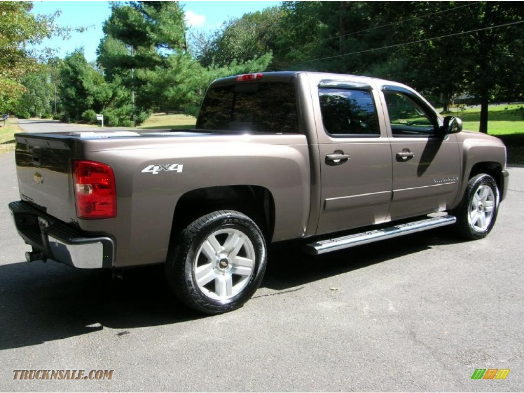 2008 silverado 1500 ltz crew cab 4x4 desert brown metallic ebony photo 2